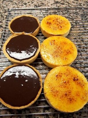 Tartelettes au Chocolat et Tartelettes à L'Orange
