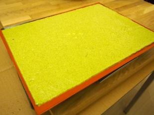 Green tea Joconde 'biscuit' sponge batter