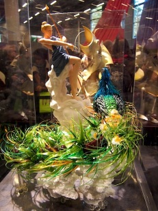 Sugar sculpture by Florian Eude of Pâtisserie, Fontainbleu who won the Award for Taste (for his individually prepared dessert)