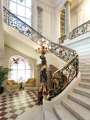 Staircase leading to the ballroom